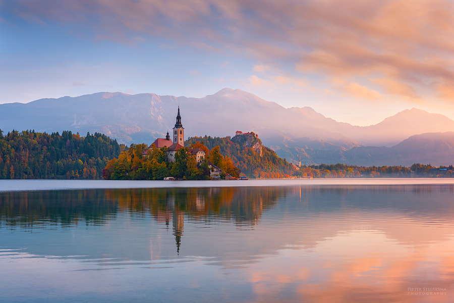 Autumn sunrise in Slovenia by Pieter Struiksma on 500px.com