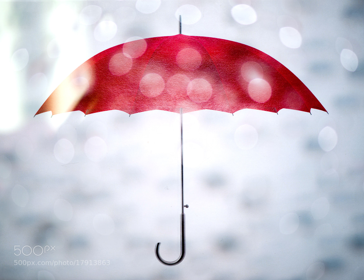 Photograph Red umbrella and rain by Martin Cauchon on 500px