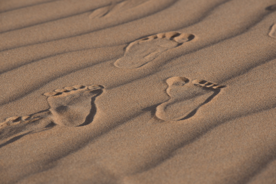 Barefoot in Sharqiya Desert