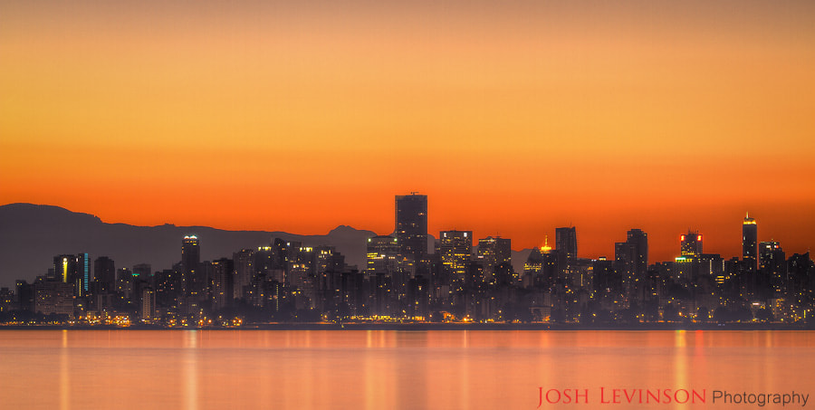 Photograph Downtown Vancouver just before sunrise by Josh Levinson on 500px