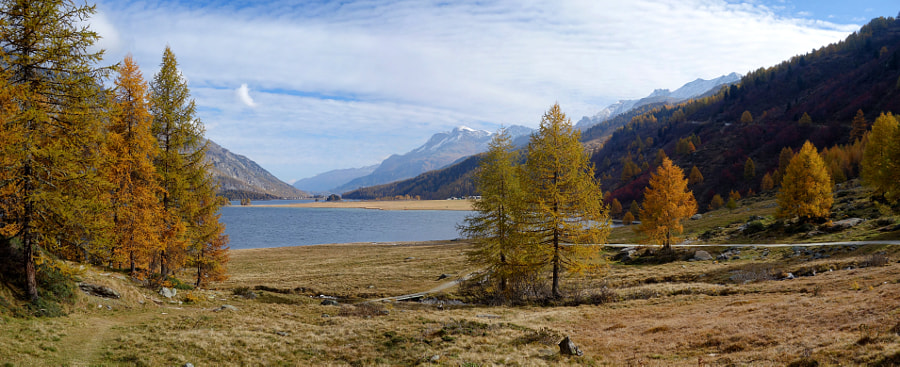 Silsersee in the autumn by Dirk Plate on 500px.com
