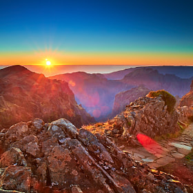 Pico do Areeiro Sunset by Magnus Larsson (MagnusL3D)) on 500px.com