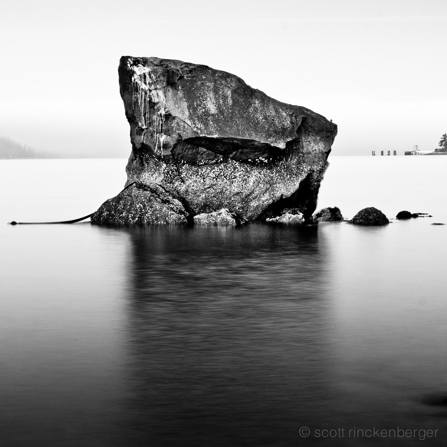 This rock lies in front of one of my favorite places, a house on the beach on Guemes Island, in the San Juan Islands of Washington State.