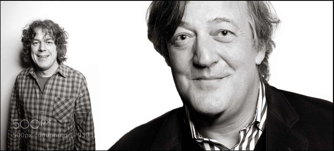 Photograph alan davies & stephen fry > the oxo tower, london > november 2010 by Andy Hollingworth on 500px