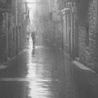 In a village near Vitoria a foggy morning