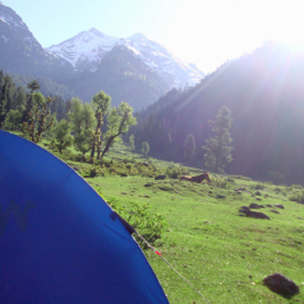 Morning in Pahalgam., Sony DSC-W210