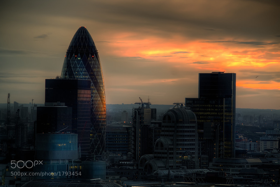 Photograph Gherkin - Sunrise by Michael Murphy on 500px