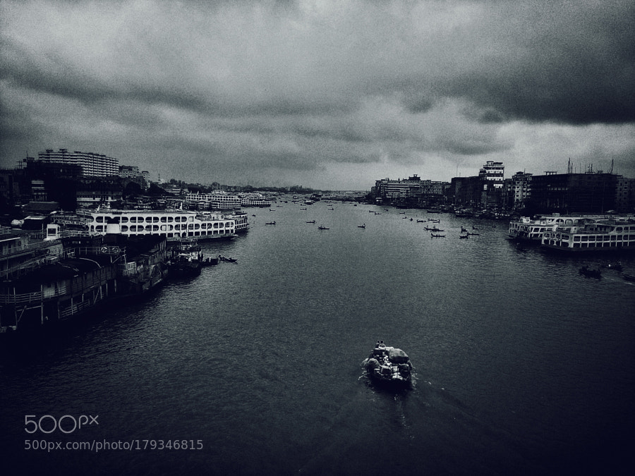 Buriganga River | Sadarghat | Babu Bazar Bridge | Dhaka by merunz
