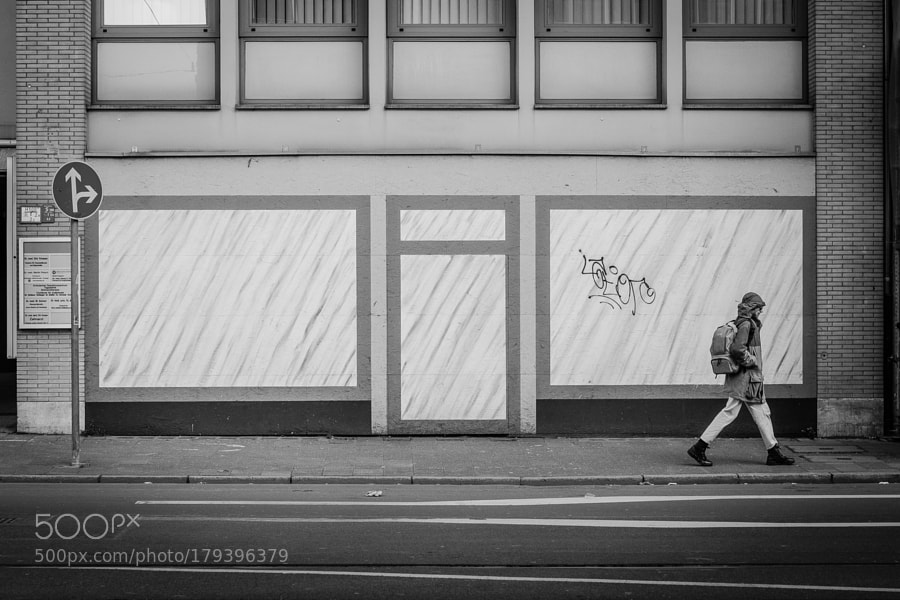 Street scenes in black and white