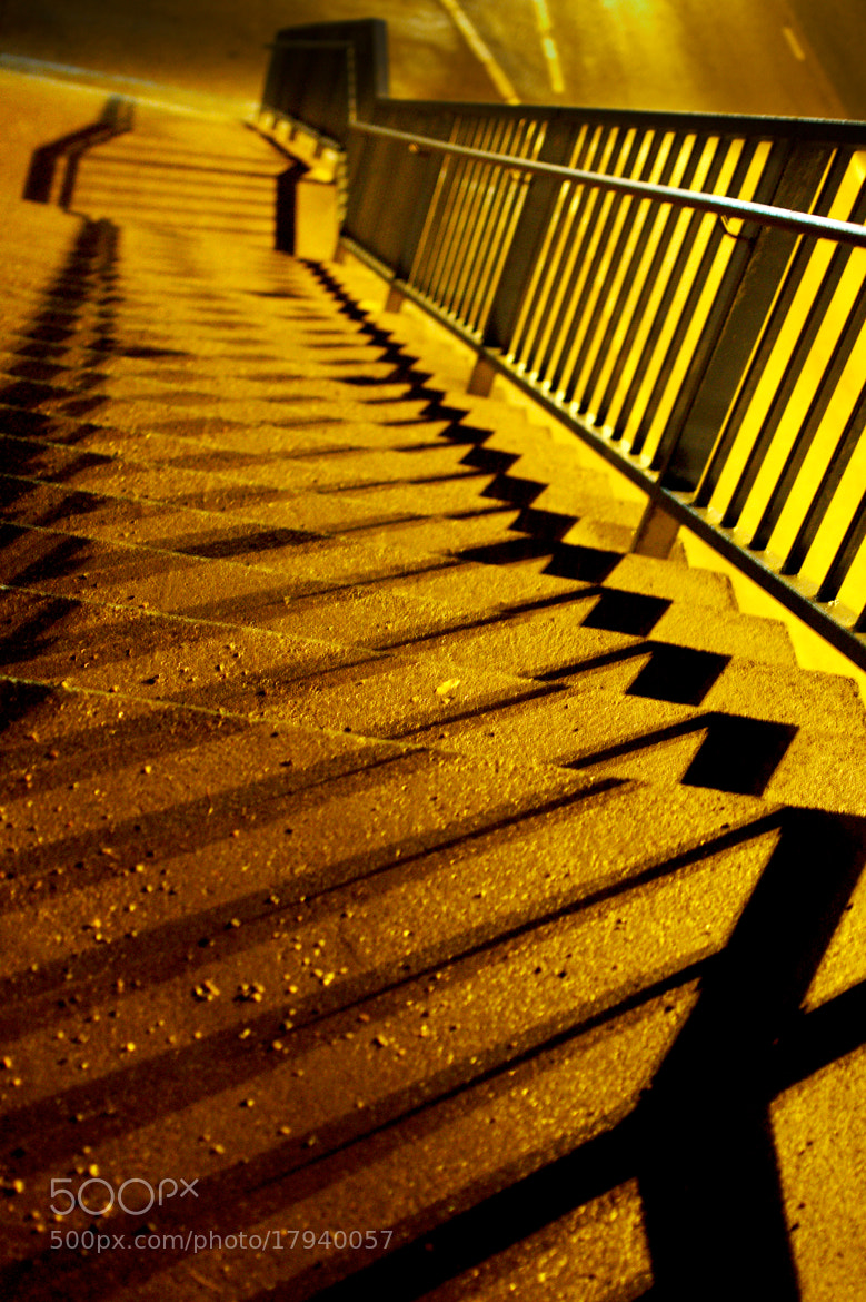 Photograph shadow play at stairs by J K on 500px