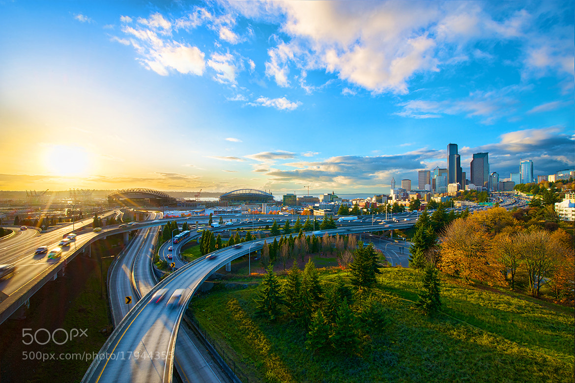 Photograph Autumn Sunset in Seattle by David Kosmos Smith on 500px