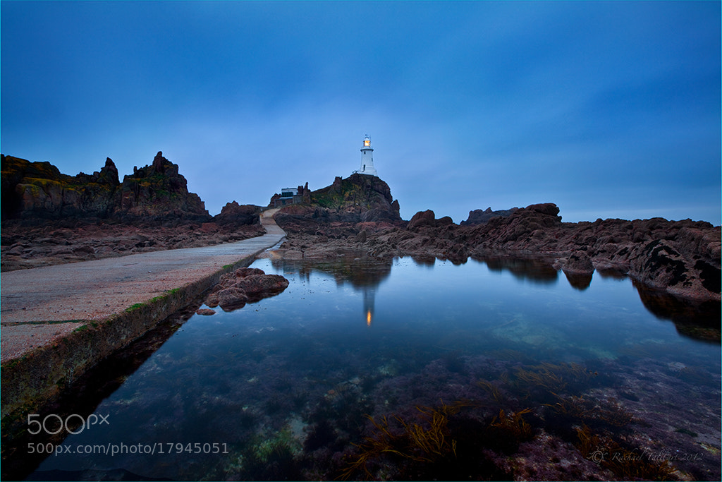 Photograph Blue hour, La Corbiere by Rachael Talibart on 500px