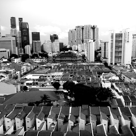 Chinatown From Top, Singapore, Nikon COOLPIX S1200pj
