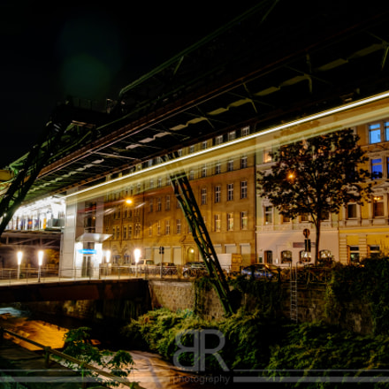 Wuppertal Suspension Railway at Night