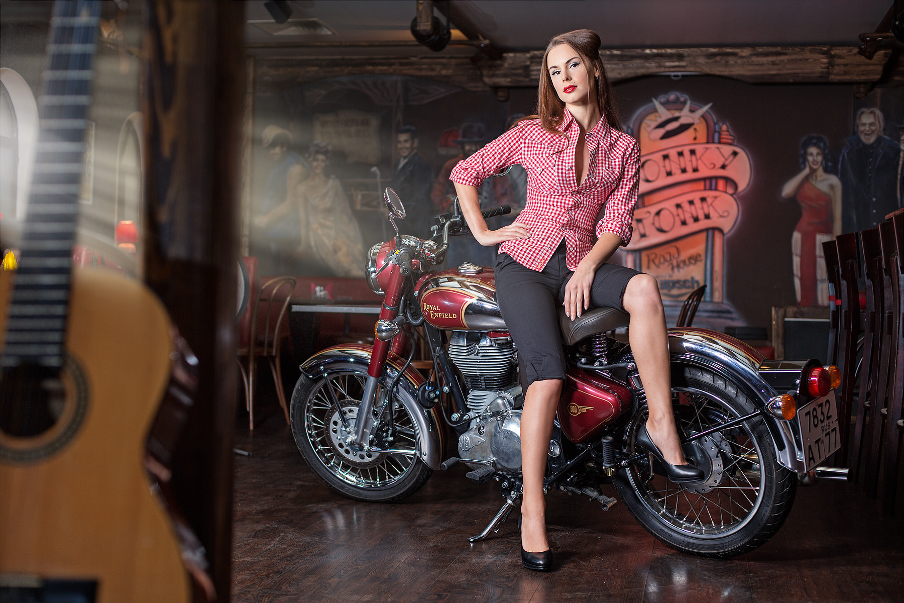 Photograph Royal Enfield and nice girl )) by Alexey Sulima on 500px