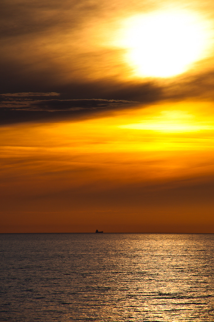 Photograph Sunset on the ferry from Trelleborg to Sassnitz by Sebastian Fandler on 500px