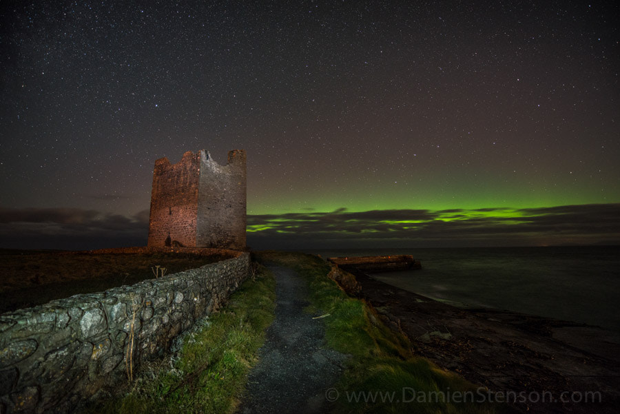 Photograph Aurora meets an irish Castle by Damien Stenson on 500px