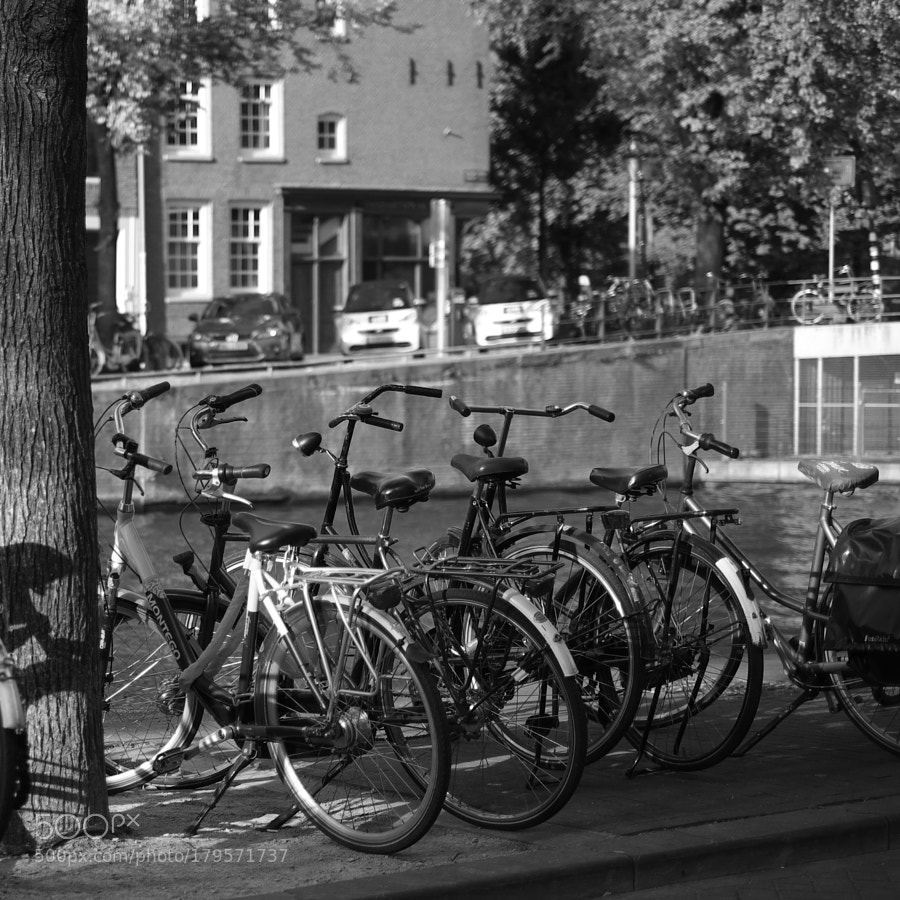Bike at canal in Amsterdam 62