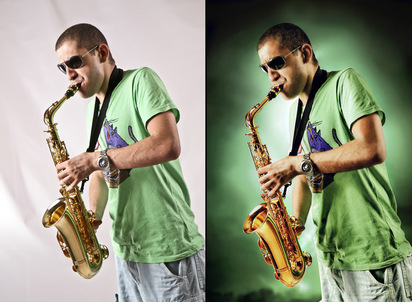 Photograph Aly's Saxophone befor and after by mohamed rabie on 500px