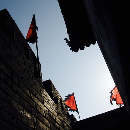 Flags old Suzhou shot, Nikon E2500