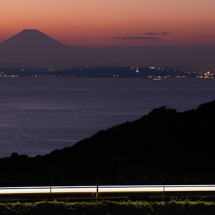 Sunset of mount Fuji, Pentax K200D, smc PENTAX-F 35-105mm F4-5.6