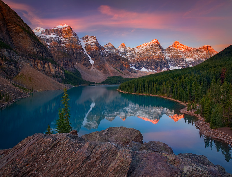 Photograph Moraine Lake Sunrise by Chip Phillips on 500px