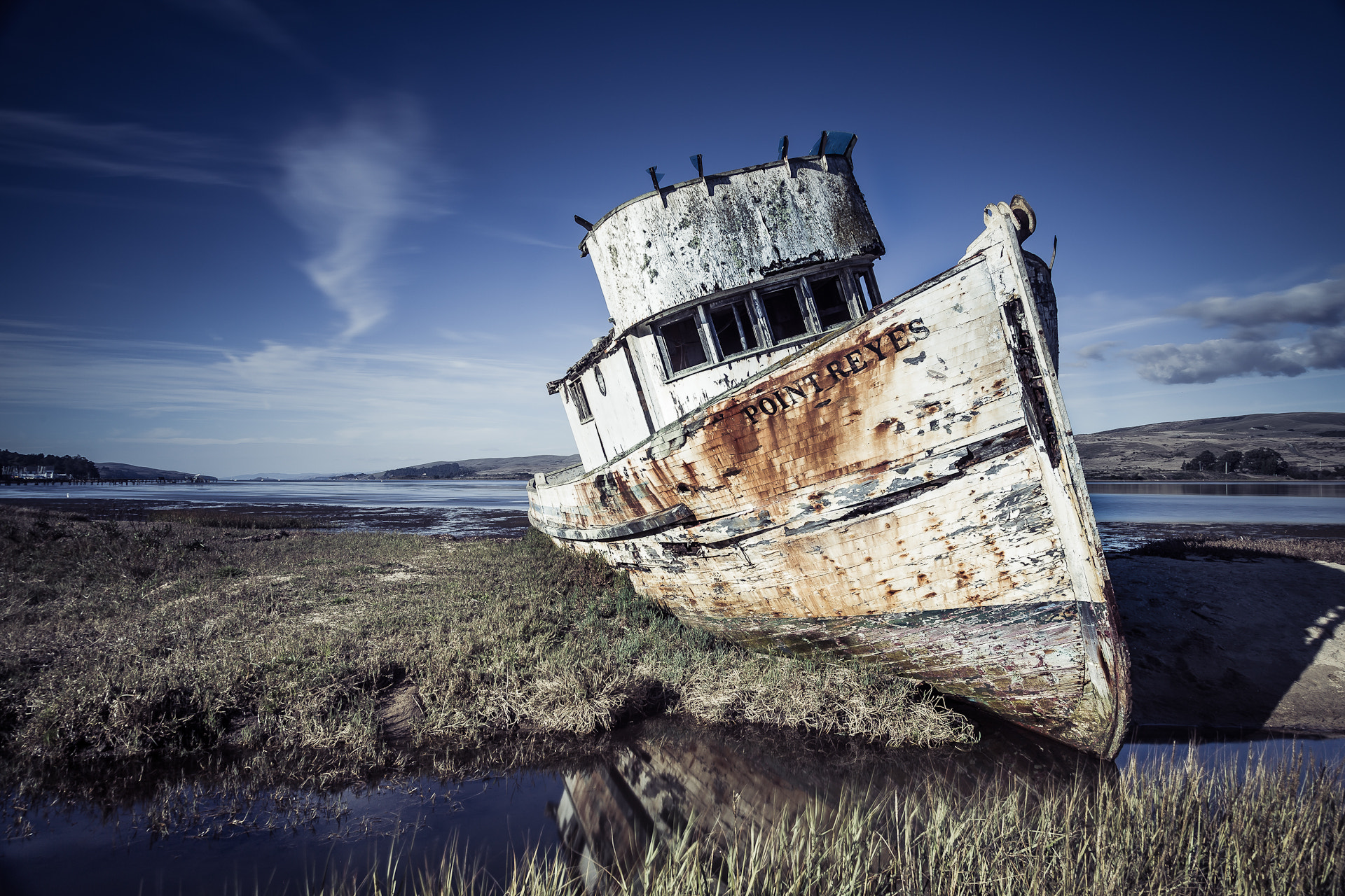 Photograph Point Reyes Boat by Jeremy Sallée on 500px
