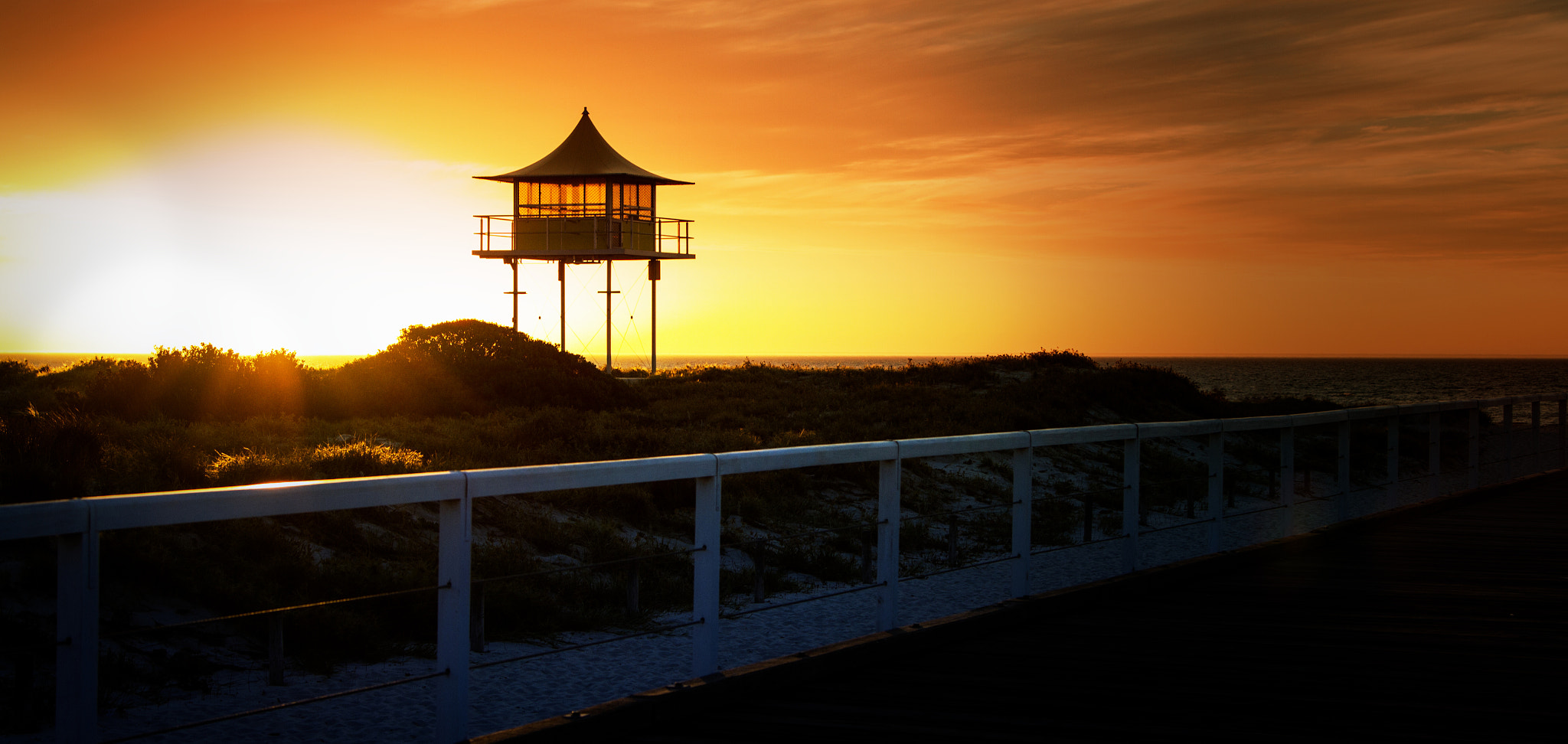 Photograph Sunset at Semaphore Beach by Dave McKay on 500px