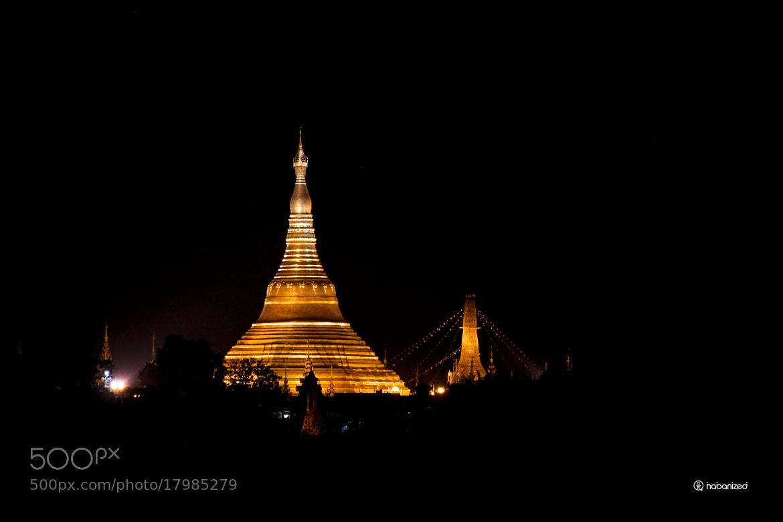 Photograph Shwedagon Pagoda by night by Eugene W on 500px