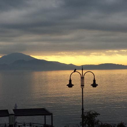 sun rise on the lake maggiore