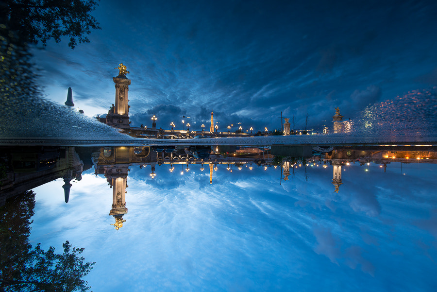 Photograph Blue hour at Paris - up and down by Eloy RICARDEZ on 500px