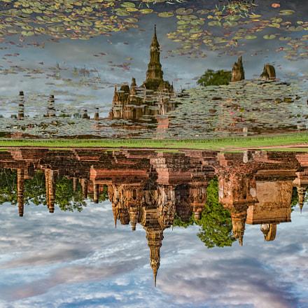 reflection of lotus bud shaped pagoda