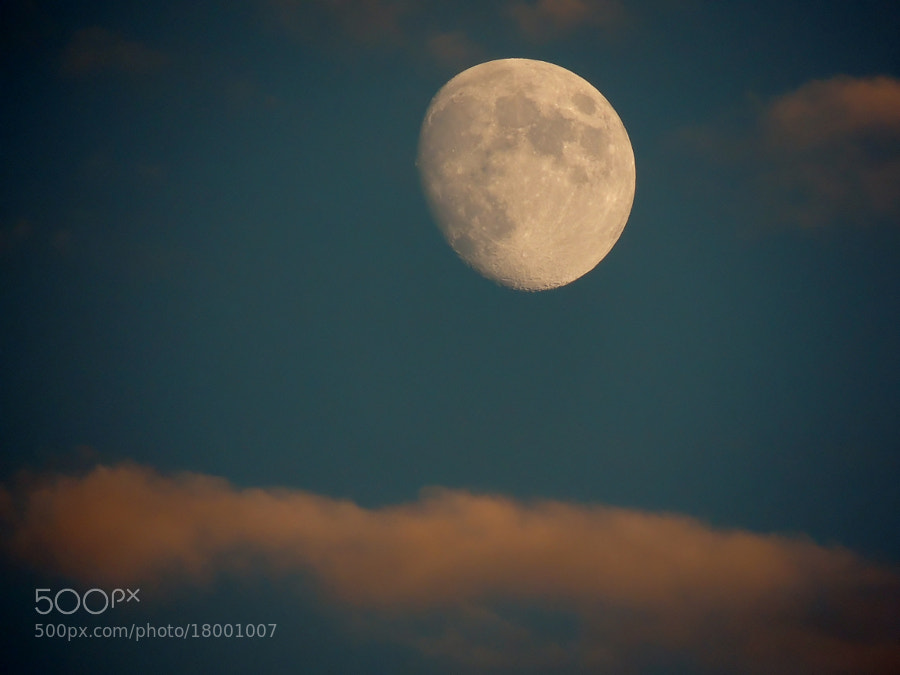 Photograph Moon and cloud by mustafa guler on 500px