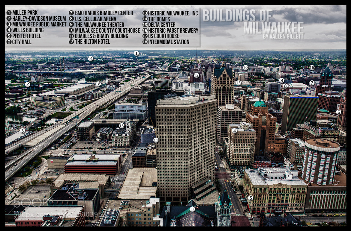 Photograph Buildings of Milwaukee (Infographic) by Vallen Gillett on 500px