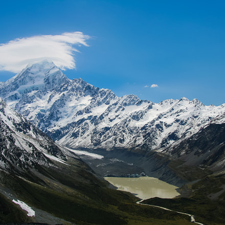 Mt Cook and Hooker, Canon EOS KISS DIGITAL N