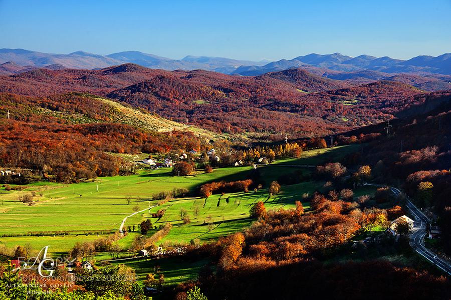 Late autumn idyll in Lika, at the foot of Velebit mountain