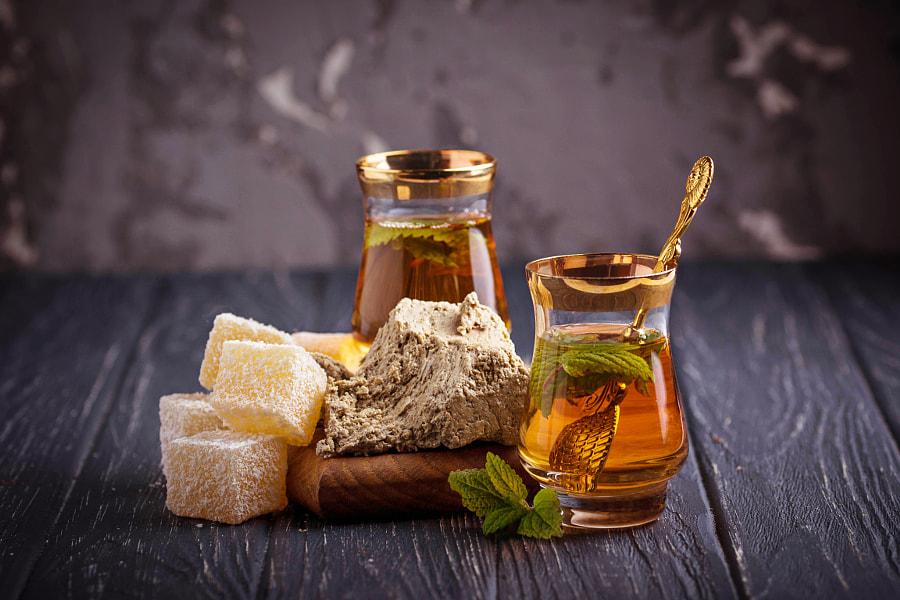 Arabic tea with turkish delight and halva by Yuliya Furman / 500px | @500px