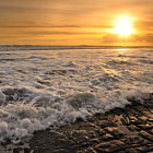 Sunset on the Jurassic coast.