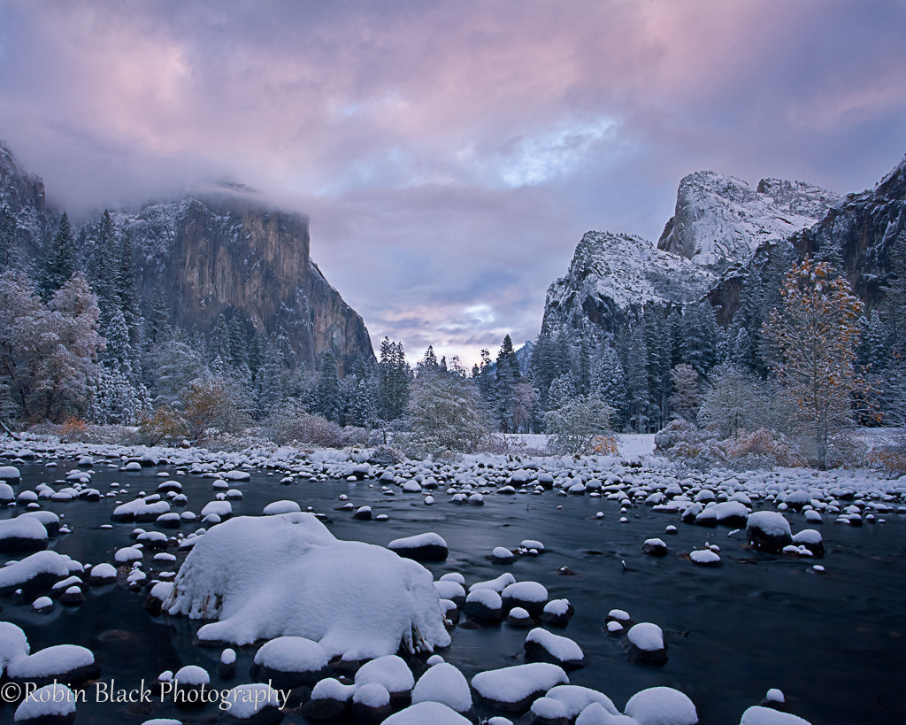 Photograph Winter Storm at Sunrise, Gates of the Valley by Robin Black on 500px
