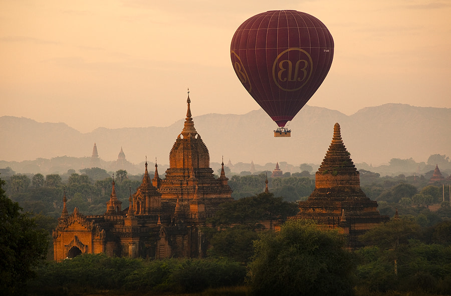 Photograph balloon over bagan by gavin burnett on 500px