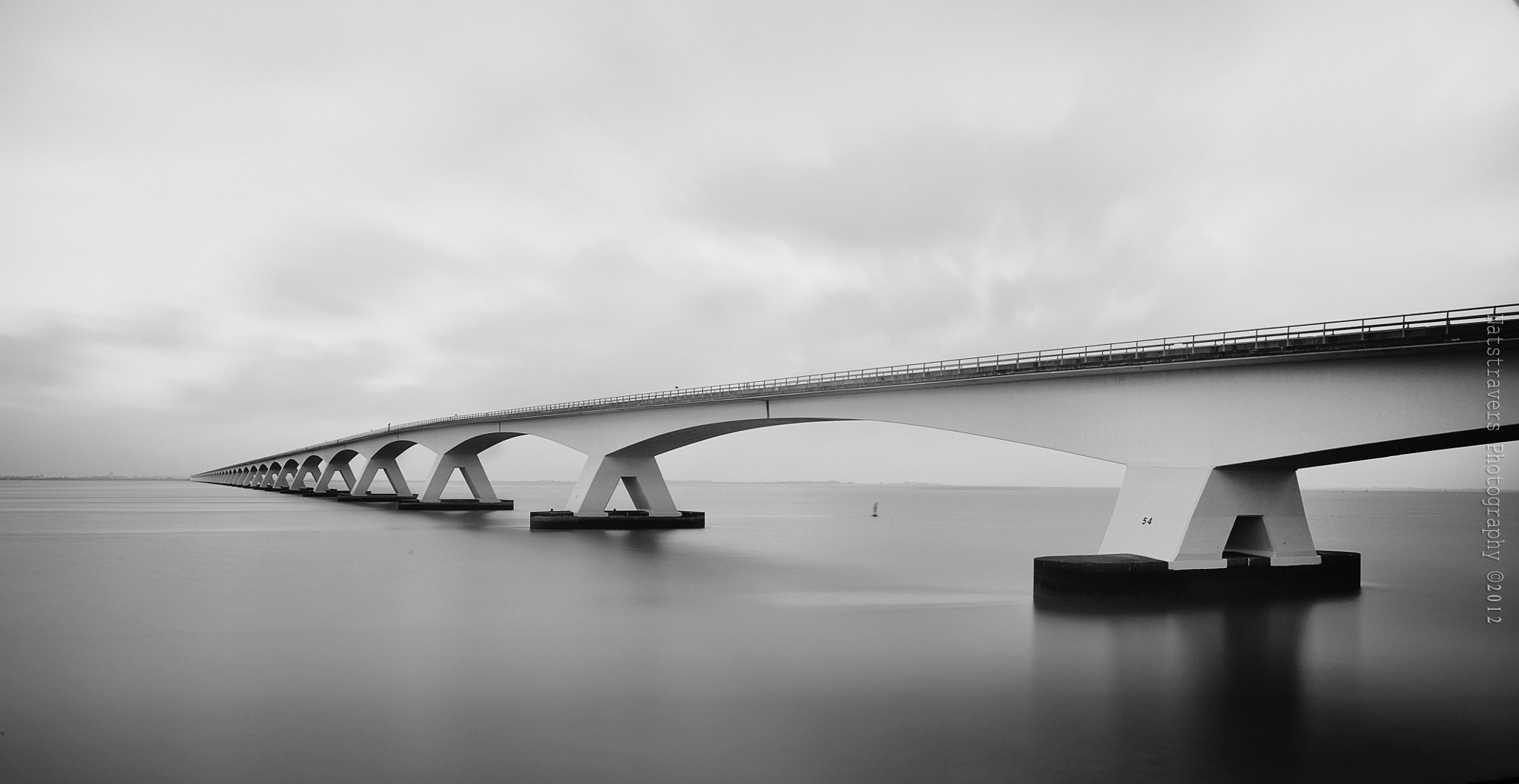 Photograph Zeeland Bridge by Nathalie Stravers on 500px