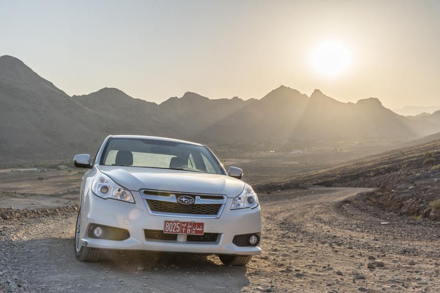 Subaru Legacy and Sunset