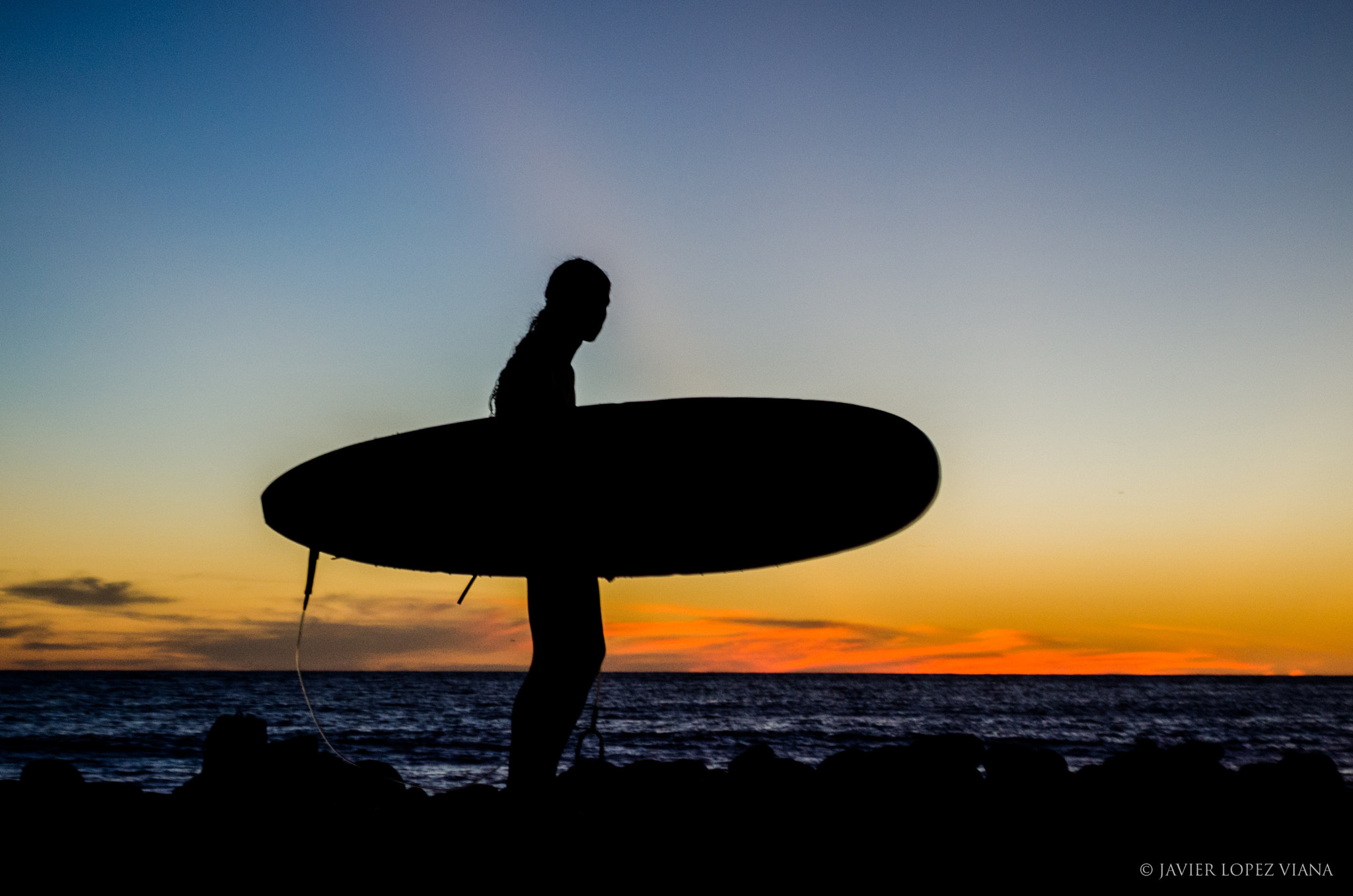 Photograph Silhouette of Surfer by Javier Lopez on 500px
