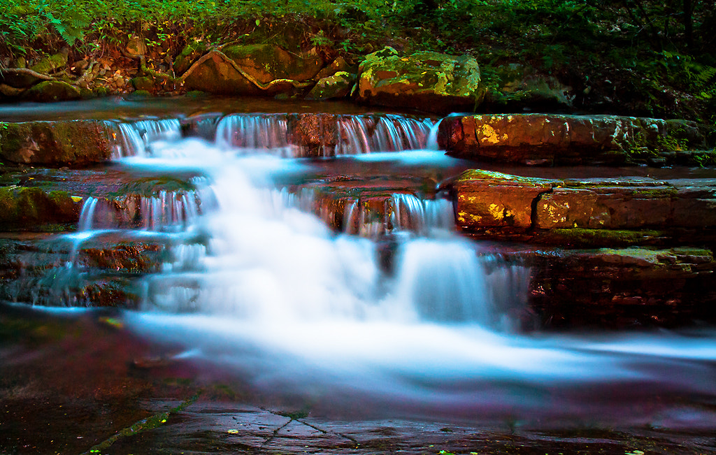 Photograph Falls by Moonlight by Mike Lesaski on 500px
