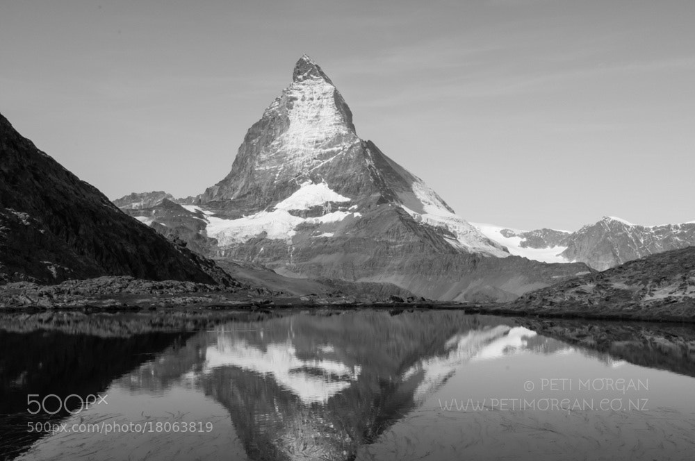 Photograph The Matterhorn, from Riffelsee Lake by Peti Morgan on 500px