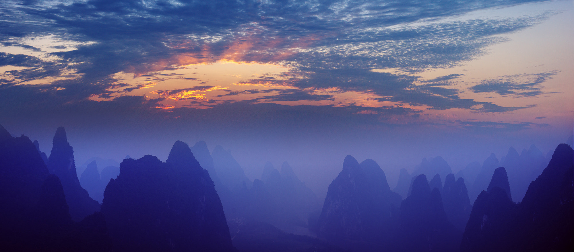Photograph Sunrise over Li river by Sergey Kuznetsov on 500px