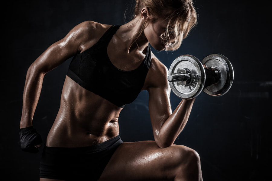 Fitness with dumbbells by Maksim Toome on 500px.com