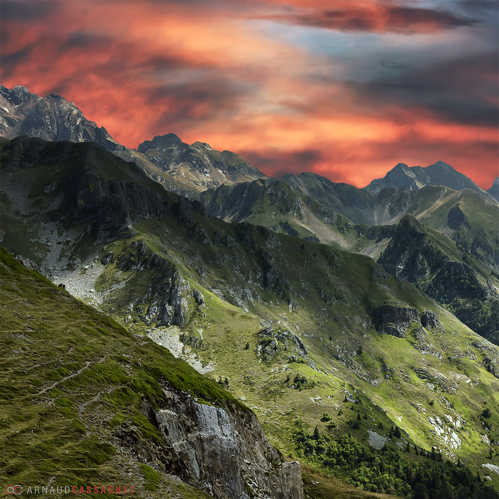 Photograph Pyrenees on fire by Arnaud Cassagnet on 500px