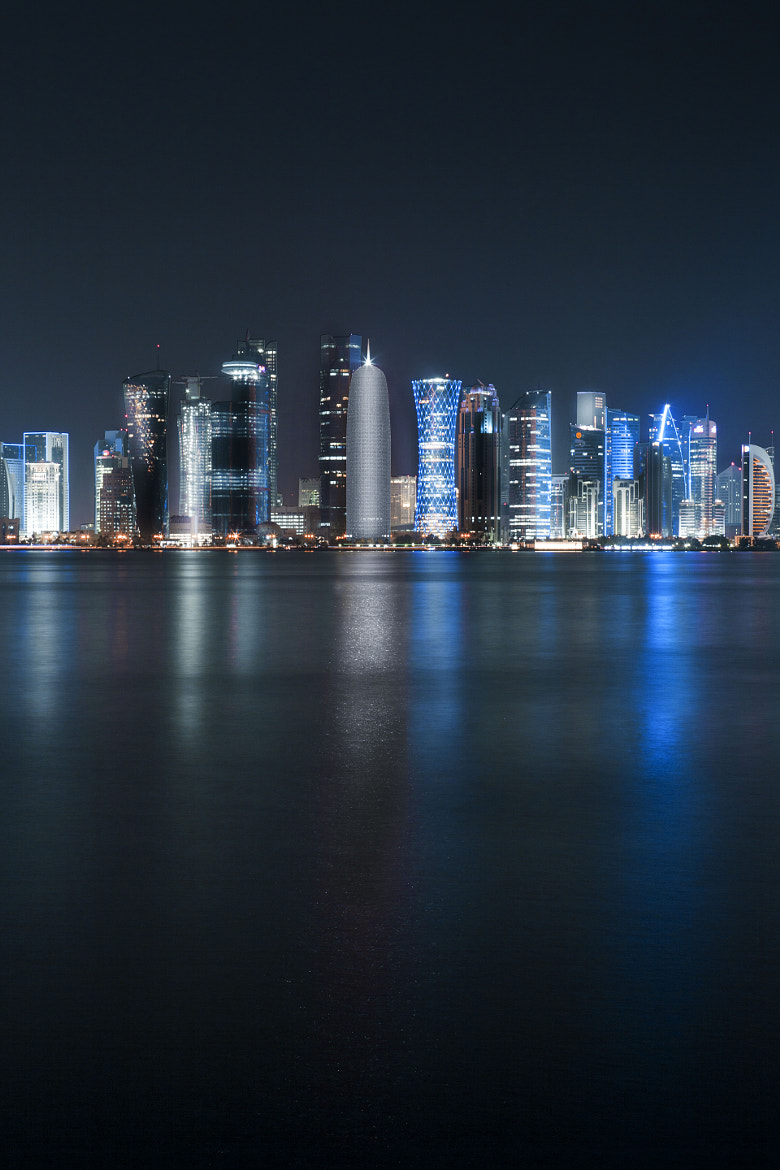 Photograph Doha at Night by Anthony B on 500px