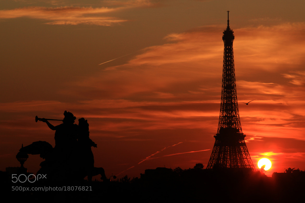 Photograph Paris at sunset by Jacky CW on 500px